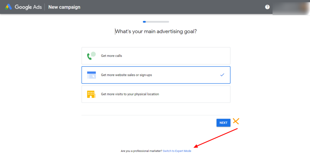 How to set up google ad account without campaign